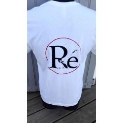 Tee shirt blanc col V logo...