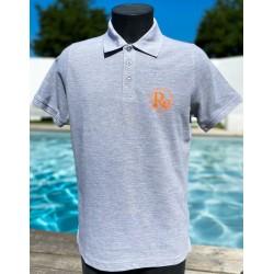 Polo gris homme logo orange...